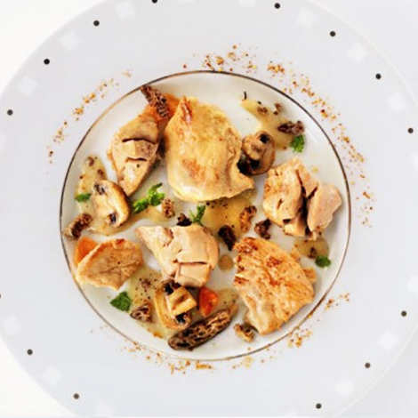 Comtesse du Barry - Braised Sweetbreads and Farm Chicken, Foie Gras Sauce and Morels