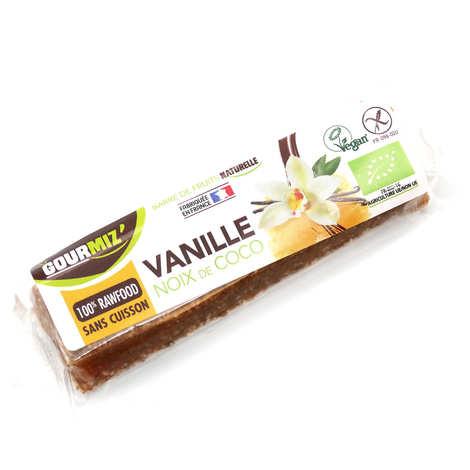 Gourmiz - Barre crue et bio Vanille - Noix de coco