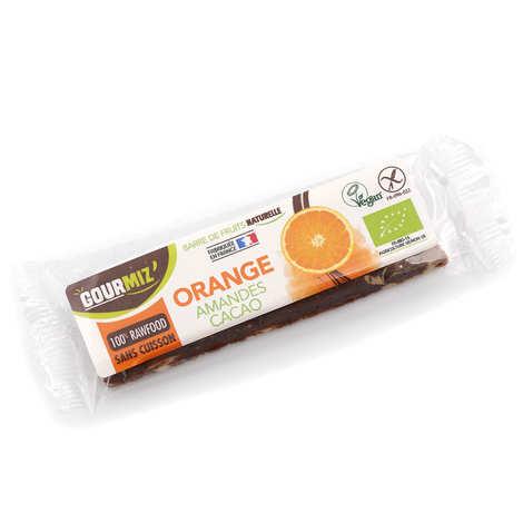 Gourmiz - Barre crue et bio Orange - Amandes