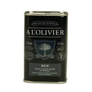 A L'Olivier - Huile d'olive vierge fruité noir vallée des Baux de Provence AOC