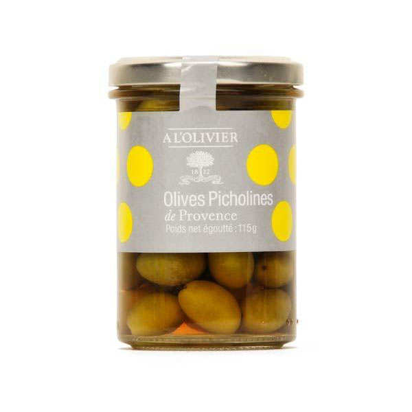 Green Olives Picholine from the department of Gard in France AOC