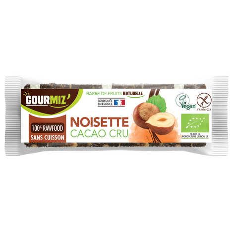 Gourmiz - Barre crue et bio Noisettes - Cacao cru