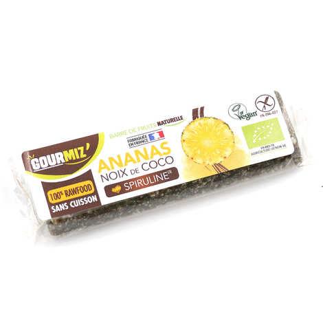Gourmiz - Barre crue et bio Ananas - Noix de Coco - Spiruline