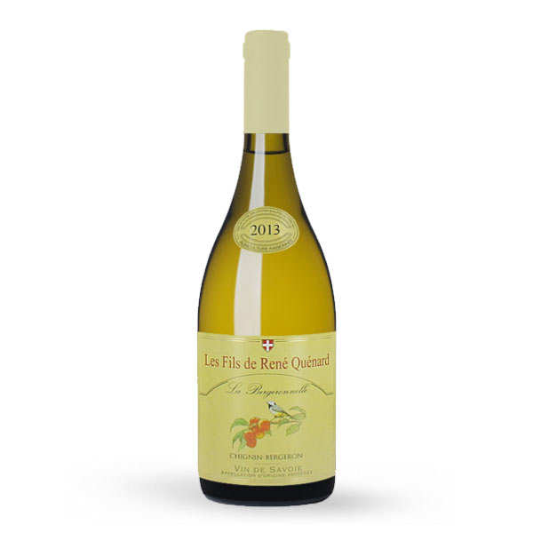 Chignin bergeron la bergeronnelle - vin blanc de savoie - 12,5% - 2013 - bouteille 75cl