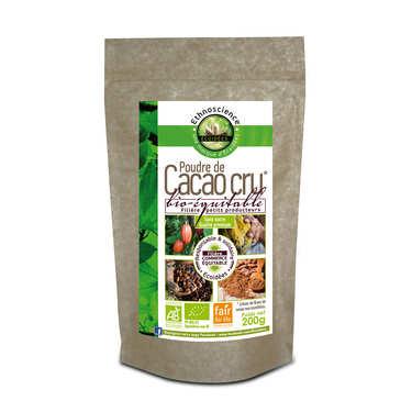 Poudre de cacao cru sans sucre bio