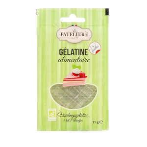 La Patelière bio - Organic gelatine sheets