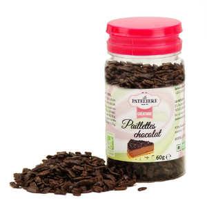 La Patelière bio - Paillettes de chocolat noir bio
