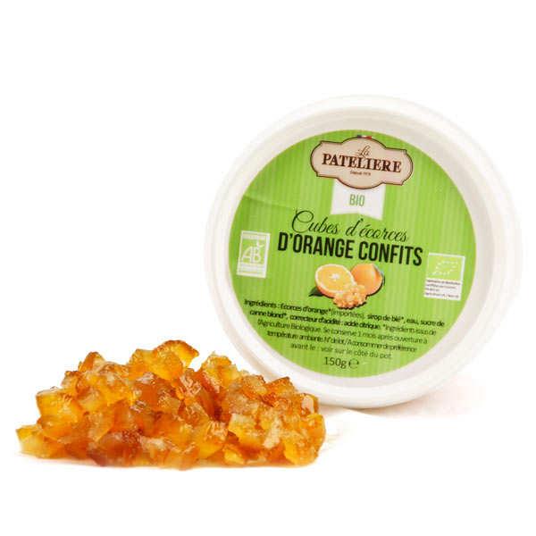 Cubes d'écorces d'orange confites bio