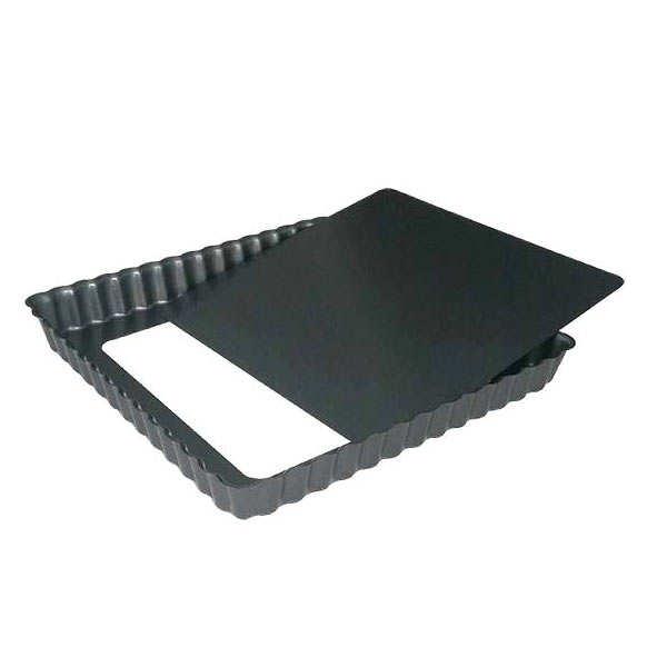 moule tarte carr fond amovible de buyer. Black Bedroom Furniture Sets. Home Design Ideas
