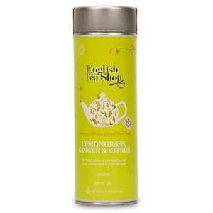 English Tea Shop - Infusion citronnelle, gingembre, agrumes bio - Boite métal sachets