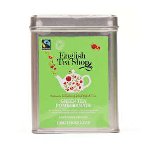English Tea Shop - Organic Ceylon Green Tea to Pomegranate - Metal box