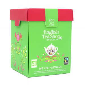 English Tea Shop - Thé vert de Ceylan à la grenade bio  - Boite métal vrac