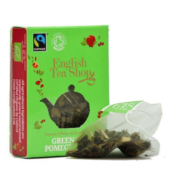 Thé vert de Ceylan à la grenade bio - Sachet mousseline