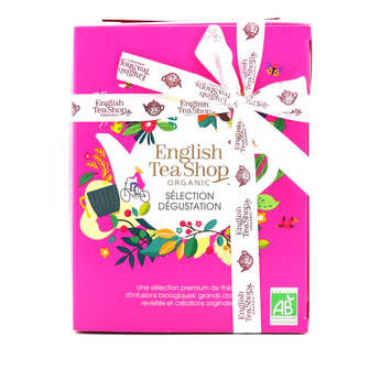 English Tea Shop - Coffret de 12 sachets pyramides de thés et d'infusions bio