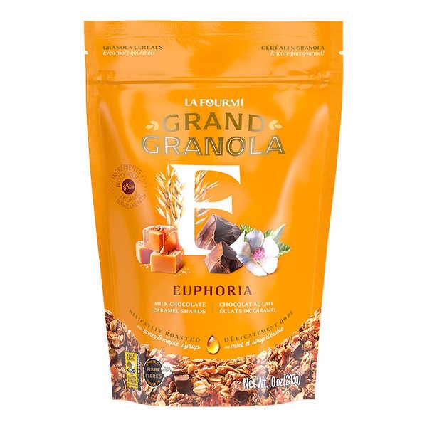 Granola gourmet euphorique - Chocolat au lait, caramel