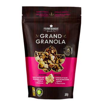 Fourmi Bionique - Granola gourmet divin - Chocolat blanc, macadamia et vanille