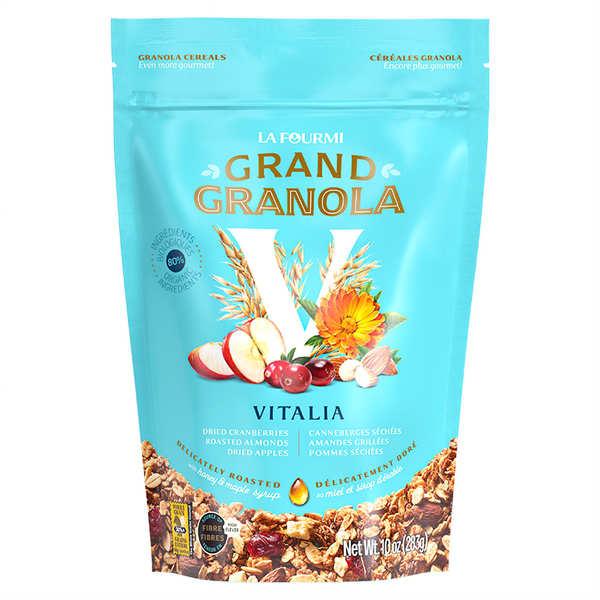 Granola gourmet vitalité - Canneberge, amande, pomme