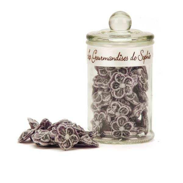 Bonbonnière de bonbons à la violette à l'ancienne