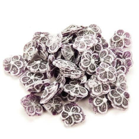 Les Gourmandises de Sophie - Bonbonnière de bonbons à la violette à l'ancienne