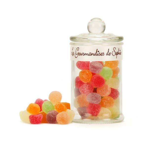 Bonbonnière de bonbons gélifiés aux fruits assortis