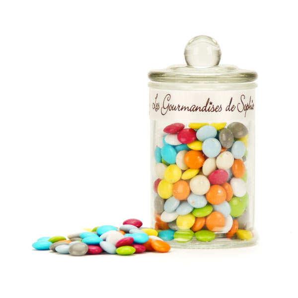 Bonbonnière de confettis colorés au chocolat