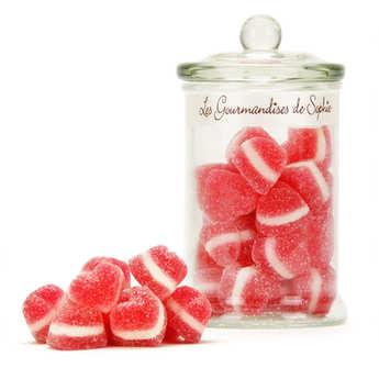 Les Gourmandises de Sophie - Bonbonnière de bonbons coeurs à la cerise