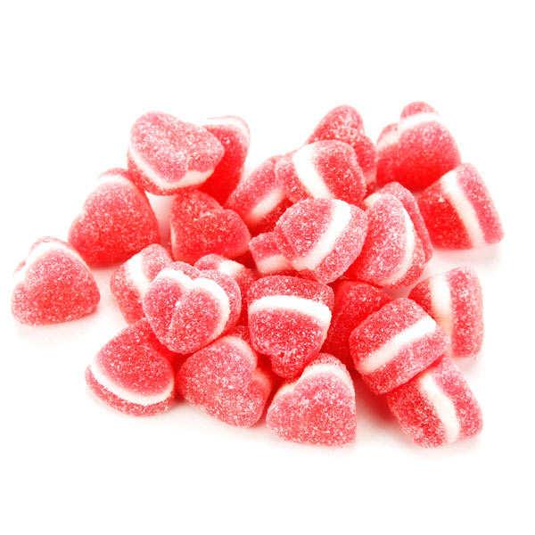Bonbonnière de bonbons coeurs à la cerise