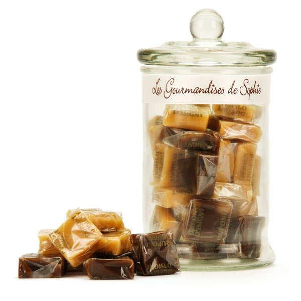 Bonbonnière de caramels assortis