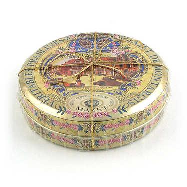 Véritables praslines Mazet de Montargis dans leur boîte métallique