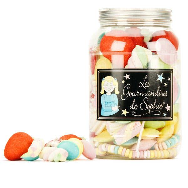 Bocal de bonbons assortis
