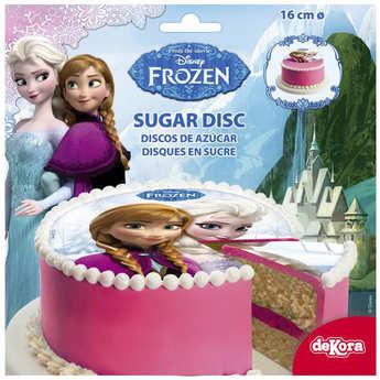 Dekora - Disque azyme La Reine des Neiges (disque en sucre décoré)