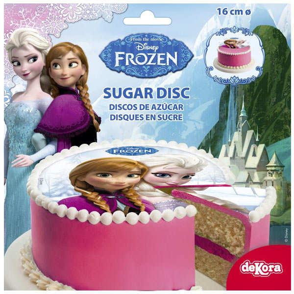 Disque azyme La Reine des Neiges (disque en sucre décoré)