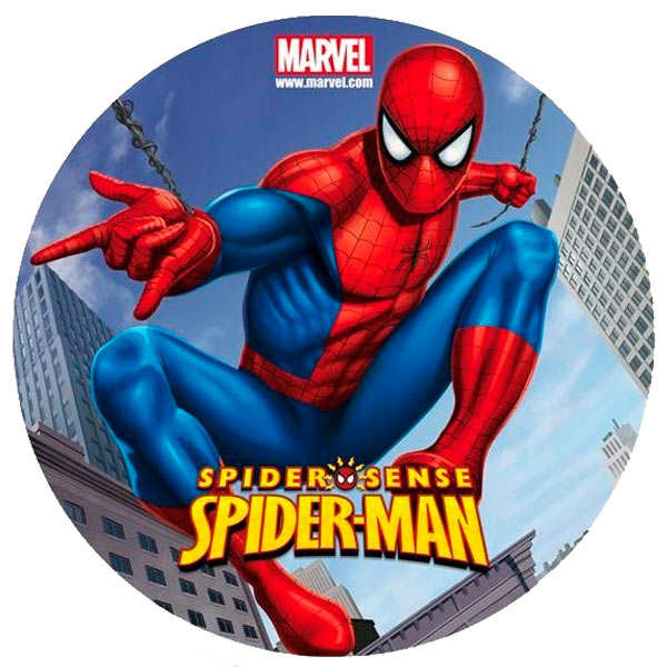 Disque azyme Spiderman (disque en sucre décoré)