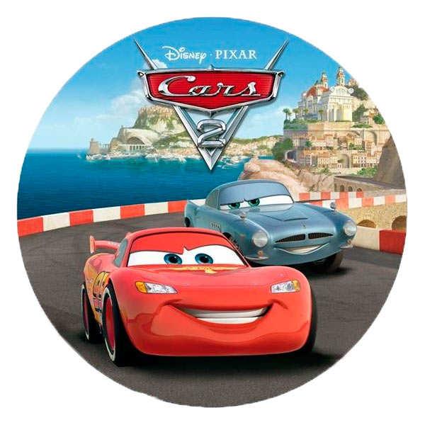 Disque azyme Cars 2 (disque en sucre décoré)