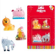 Dekora - 4 Zoo Animals Candle