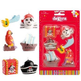 Dekora - 6 bougies pirates