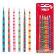 Dekora - Bougies d'anniversaire assorties