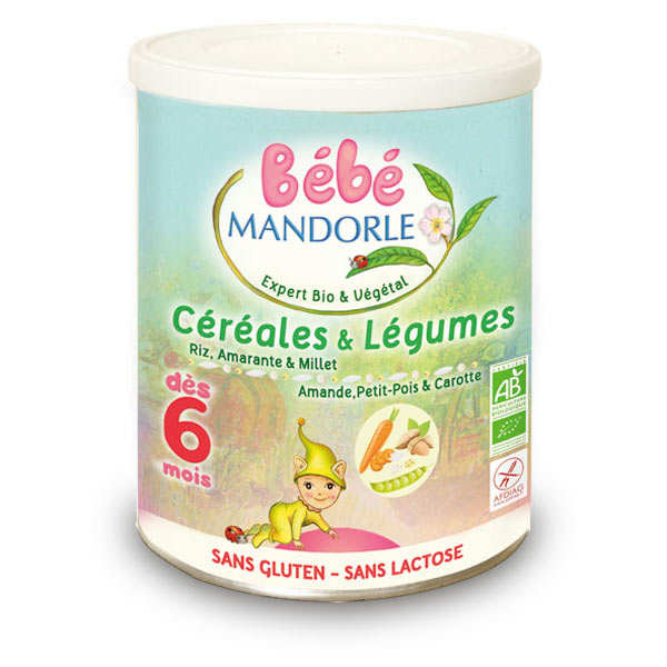 Organic preparation cereals and vegetable for baby from 6month