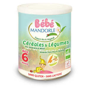 Bébé Mandorle - Organic preparation cereals and vegetable for baby from 6month
