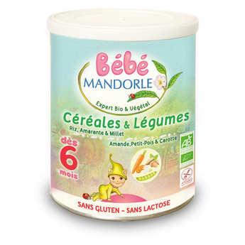 Bébé Mandorle - Préparation bio pour repas bébé dès 6 mois - Céréales & légumes