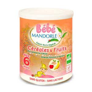 Bébé Mandorle - Préparation bio pour repas bébé dès 6 mois - Céréales & fruits