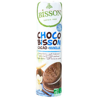 Bisson - Organic biscuit choco Bisson Vanilla and cocoa