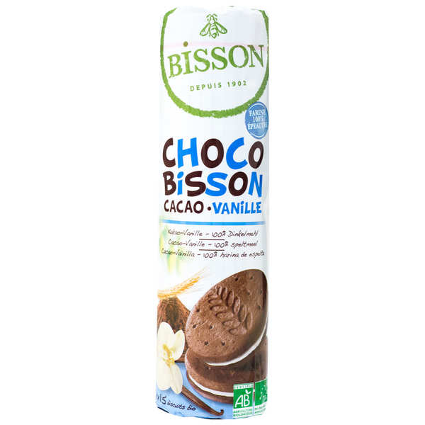 Organic biscuit choco Bisson Vanilla and cocoa