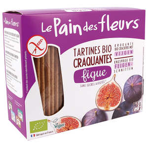 Le pain des fleurs - Organic crackers with figs Gluten free
