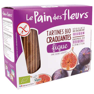 Organic crackers with figs Gluten free