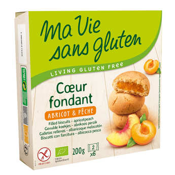 Ma vie sans gluten - Organic Filles biscuit - apricot and peach Gluten free