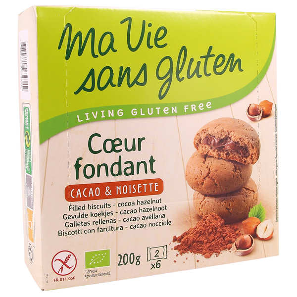 Organic Filles biscuit - cocoa and hazelnuts Gluten free