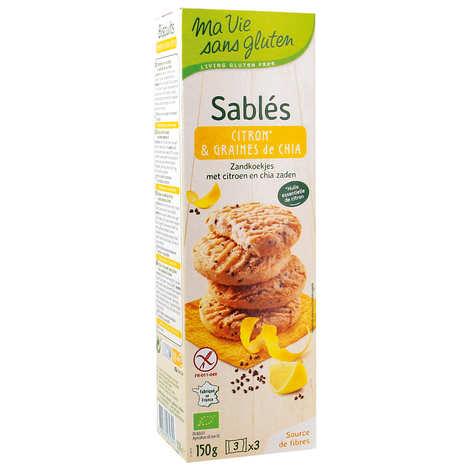 Ma vie sans gluten - Sablés bio citron et graine de chia sans gluten