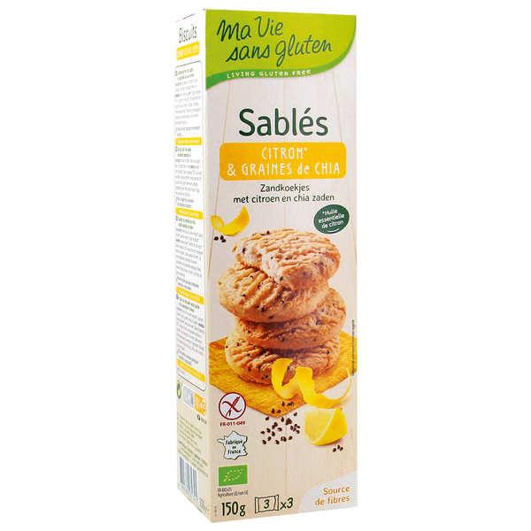 Sablés bio citron et graine de chia sans gluten