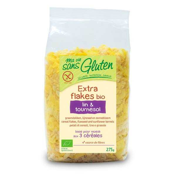 Organic flakes linen and sunflower - gluten free